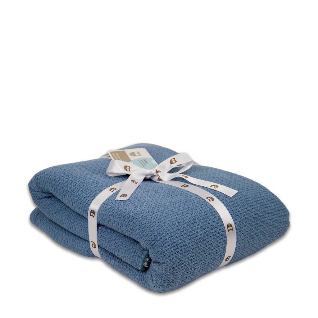 Briljant Baby ledikantdeken pique winter 100x150 cm silverblue, Blauw