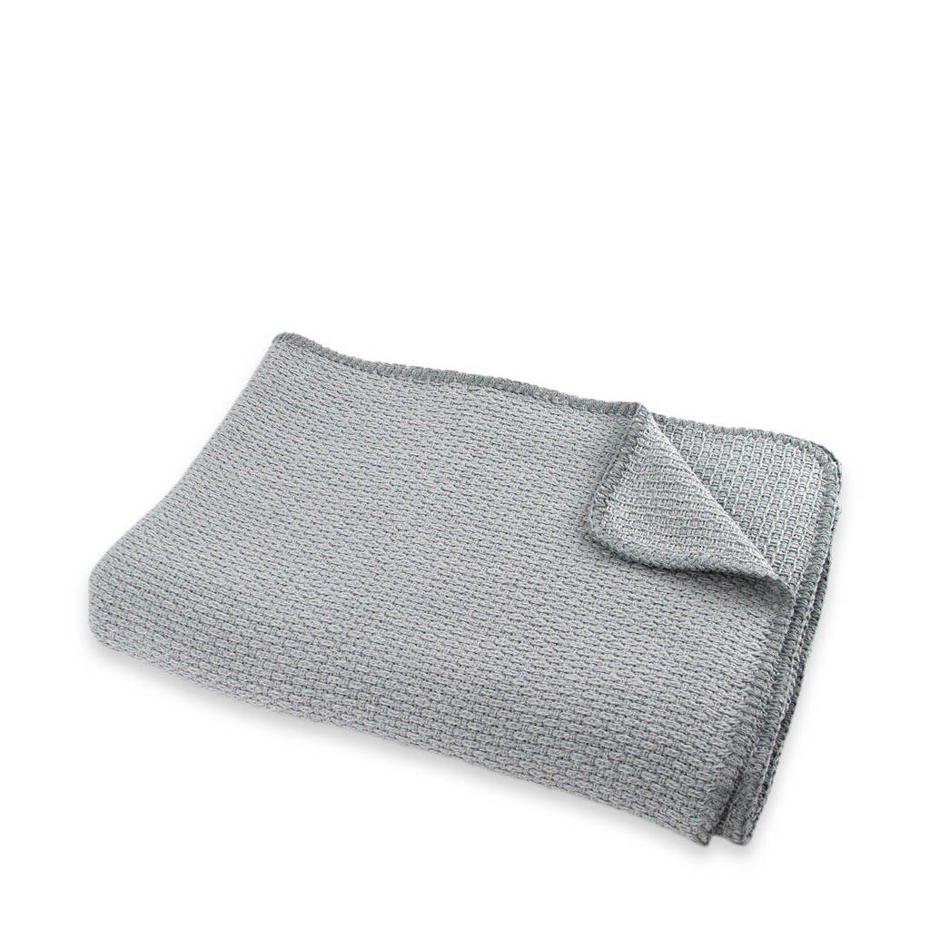 Briljant Baby ledikantdeken pique zomer 100x150 cm mid grey, Grijs