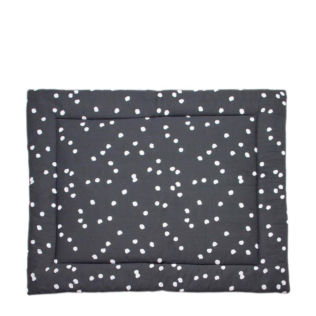 Briljant Baby boxkleed spots iron 80x100 cm, Grijs