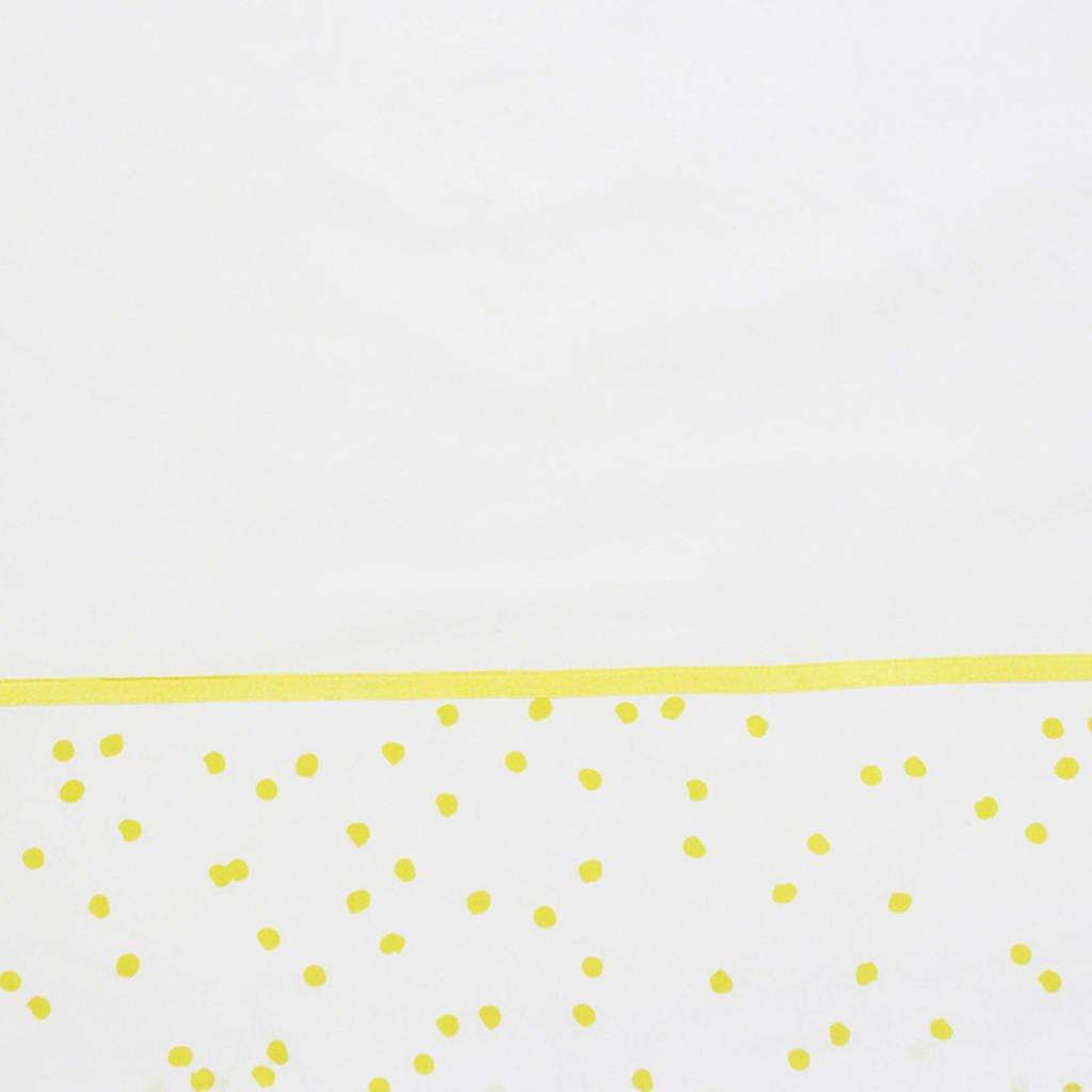 Briljant Baby baby wieglaken spots ochre bedrukt + bies briljant, Wit/geel