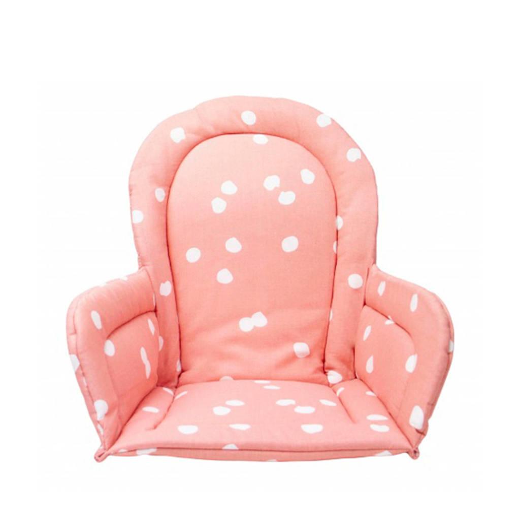 Briljant Baby stoelverkleiner spots grey pink, Roze