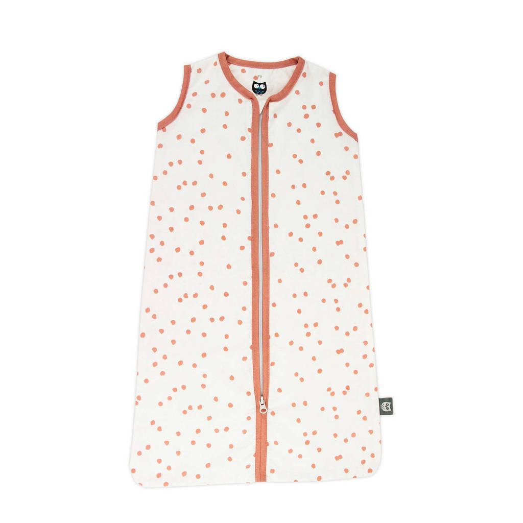 Briljant Baby baby slaapzak zomer spots grey pink, Wit/roze