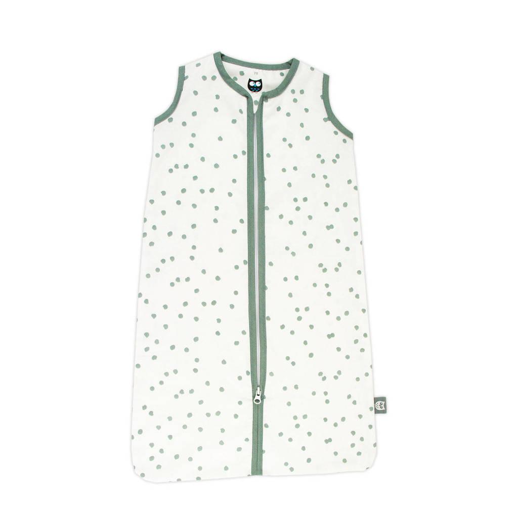Briljant Baby baby slaapzak zomer spots stonegreen, Wit/groen