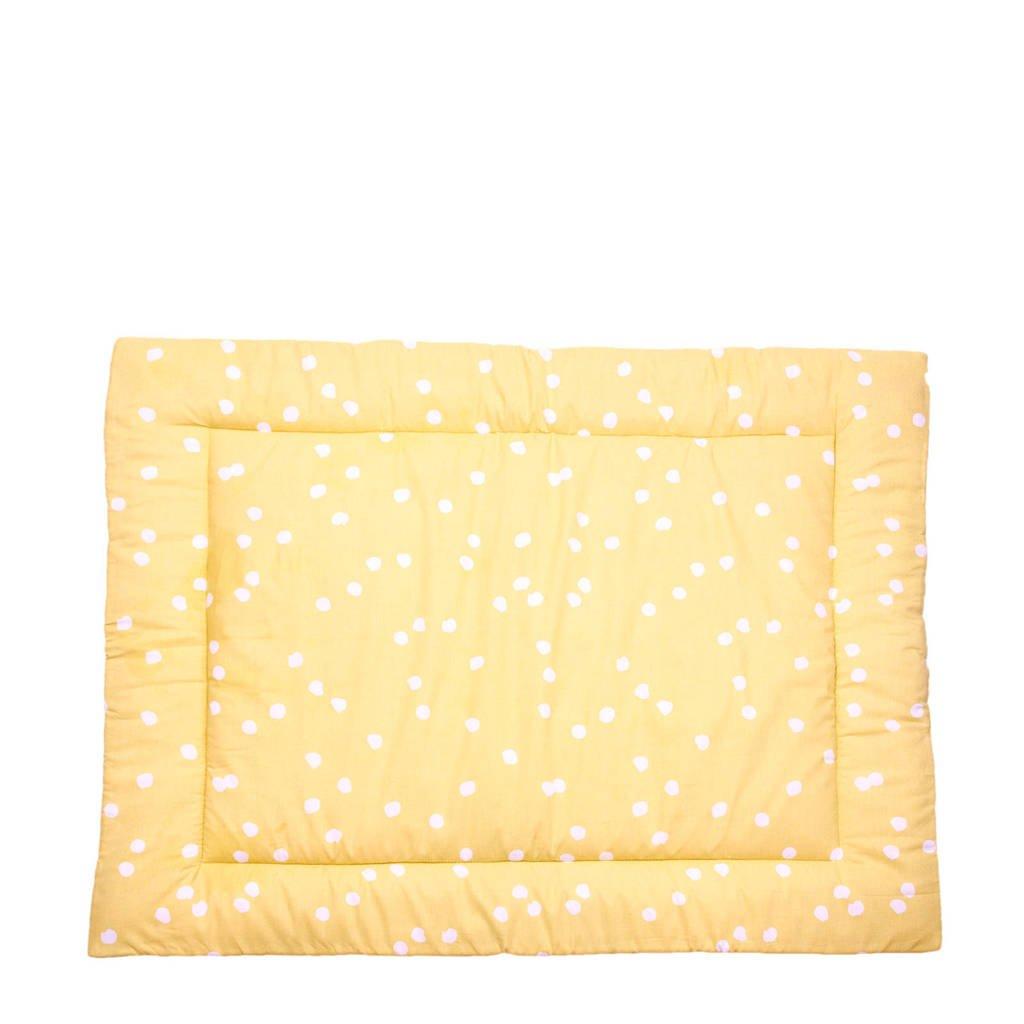 Briljant Baby boxkleed spots ochre 80x100 cm, Geel