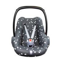 Briljant Baby autostoelhoes 0+ spots iron met interlock, Grijs