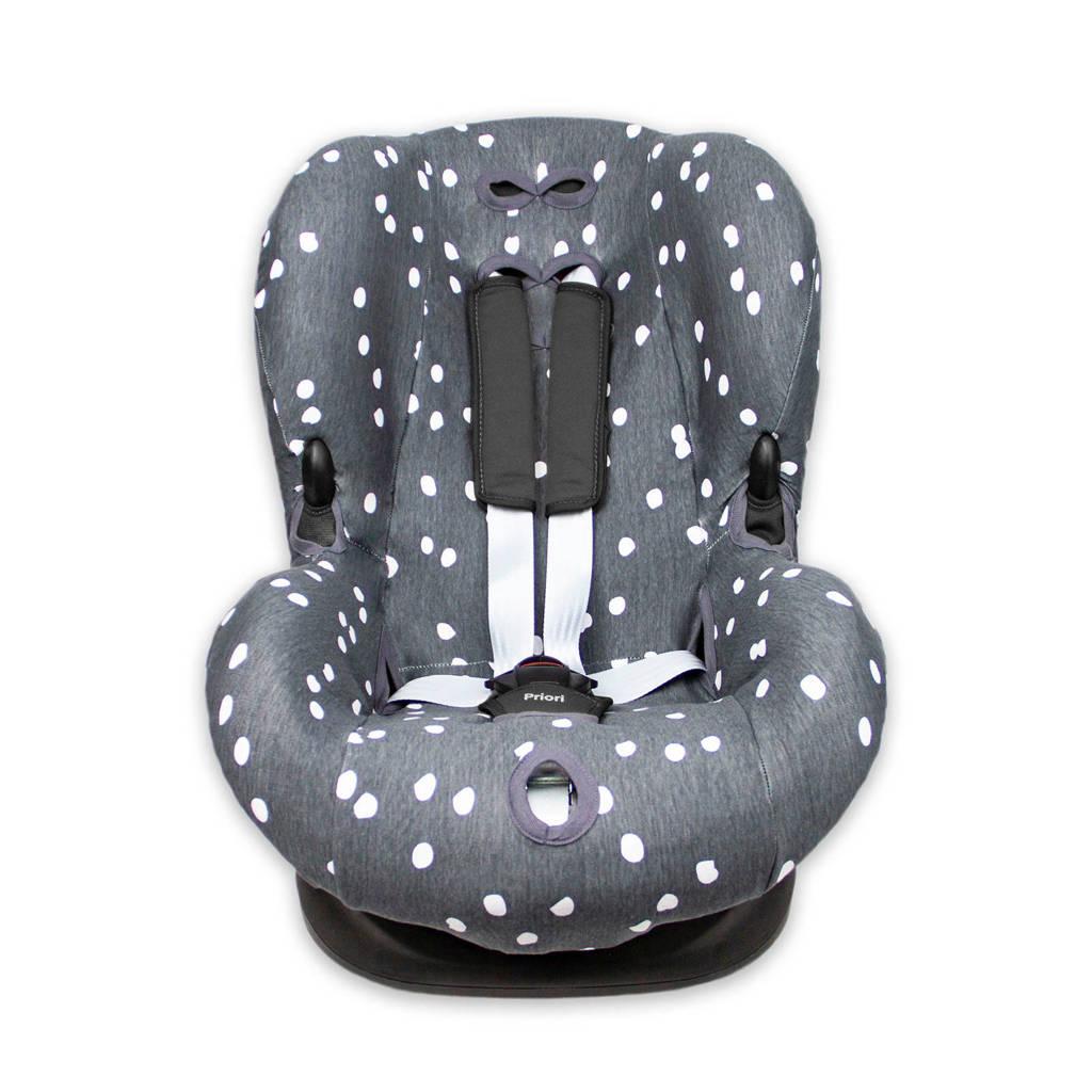 Briljant Baby autostoelhoes 1+ spots iron met interlock, Grijs