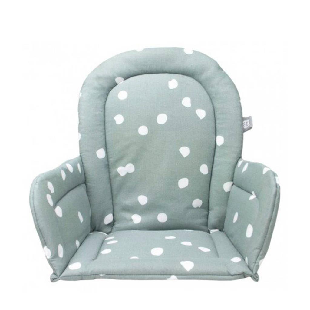 Briljant Baby stoelverkleiner spots stone green, Groen