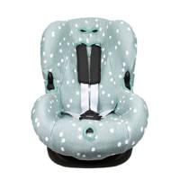 Briljant Baby autostoelhoes 1+ spots stone green met interlock, Groen