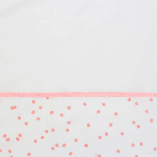 Briljant Baby ledikantlaken spots grey pink bedrukt + bies briljant kopen