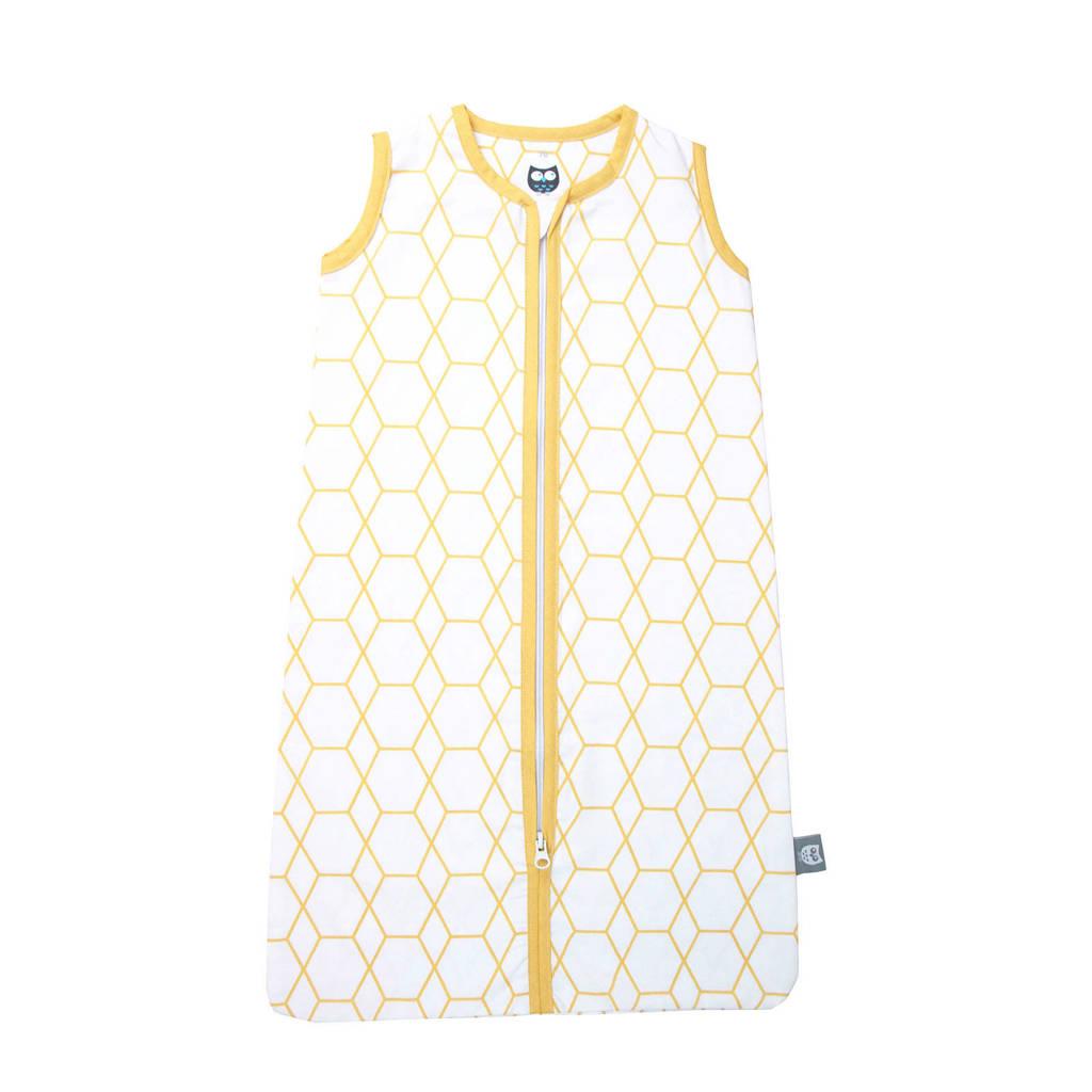 Briljant Baby baby slaapzak zomer grid wit oker, Wit/geel