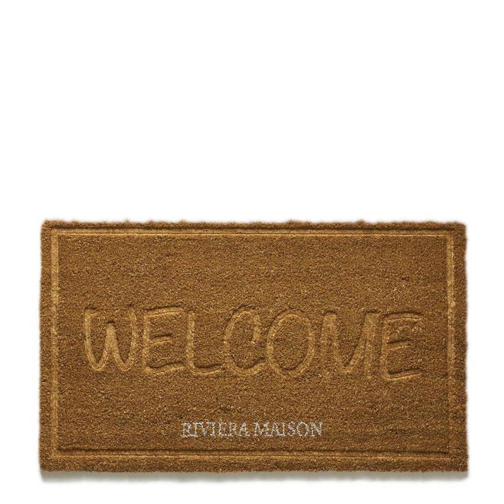 Riviera Maison deurmat Welcome (75x45 cm), Bruin