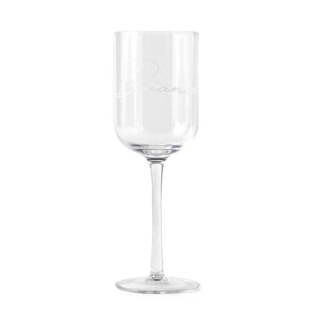 Riviera Maison witte wijnglas Bianco (Ø8 cm), Transparant