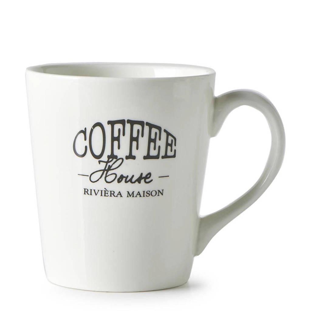 Riviera Maison koffiemok (Ø9,4 cm), Wit