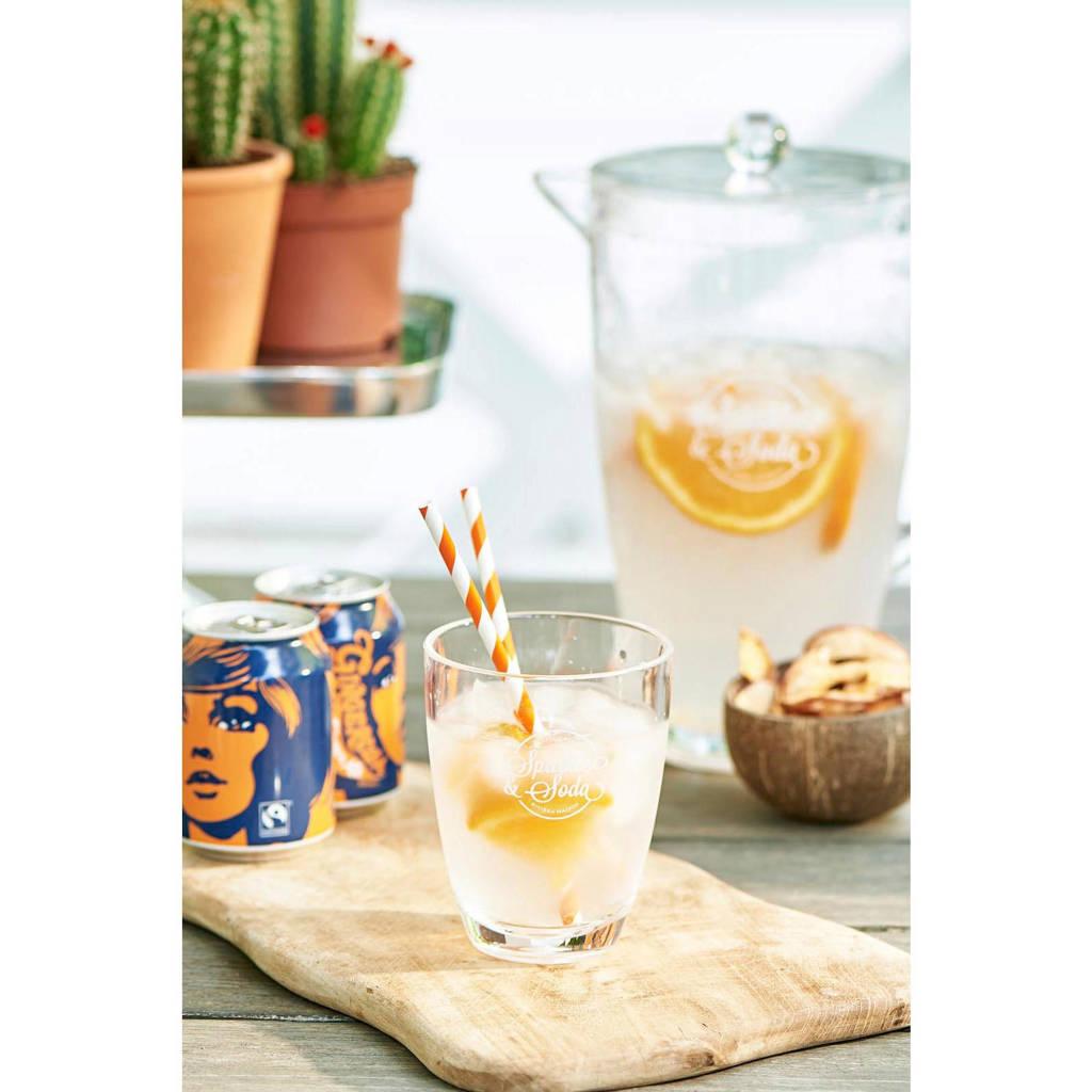Riviera Maison waterglas Sparkle And Soda (Ø9,2 cm), Transparant