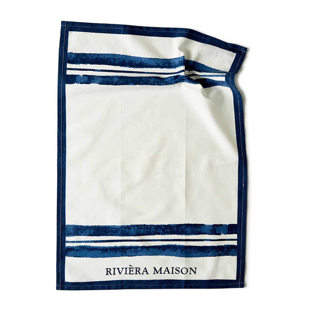 Riviera Maison theedoek, Wit