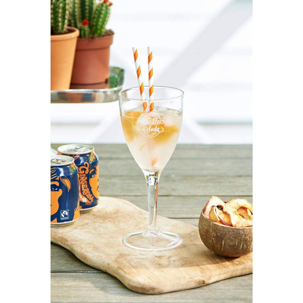 Riviera Maison wijnglas Sparkle And Soda (Ø10 cm), Transparant
