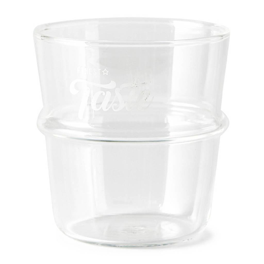 Riviera Maison waterglas (Ø8 cm), Transparant