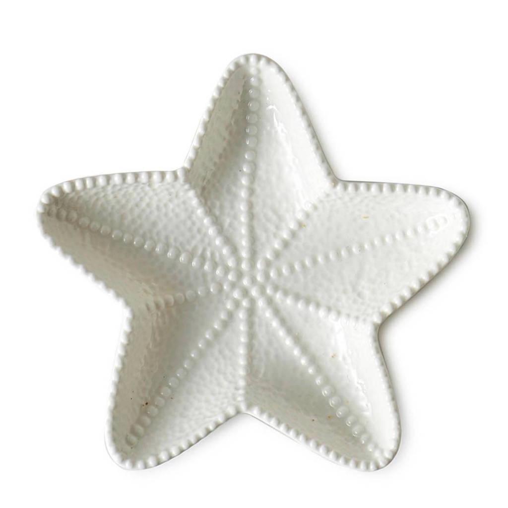 Riviera Maison gebaksbord Starfish (S), Wit