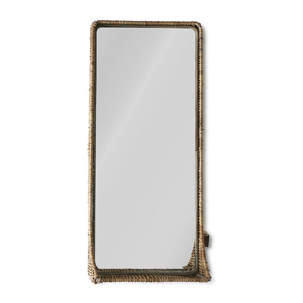 Riviera Maison spiegel (60x27 cm), Bruin