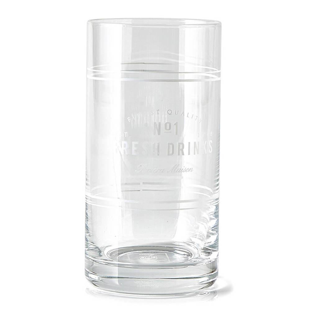 Riviera Maison longdrinkglas (Ø7 cm), Transparant