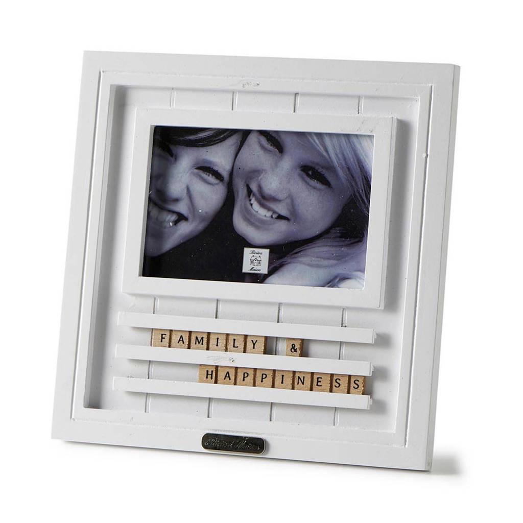 Riviera Maison fotolijst Happiness (10x15 cm), Wit