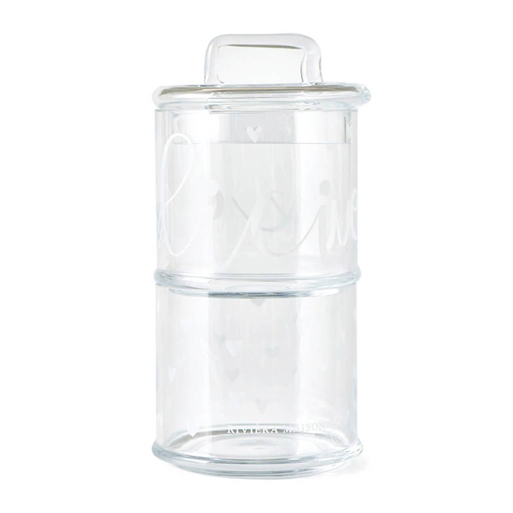 Verrassend Riviera Maison glazen voorraadpot (2-delig) | wehkamp TD-44