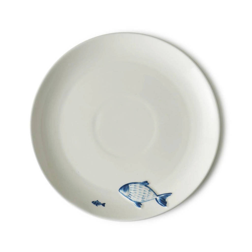Riviera Maison dinerbord Catch Of The Day (Ø27 cm), Wit