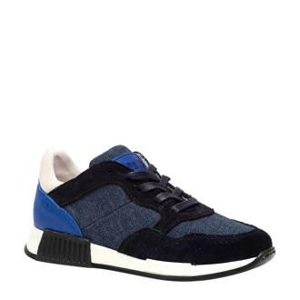 fdf30ea9f07 Scapino. Groot leren sneakers blauw