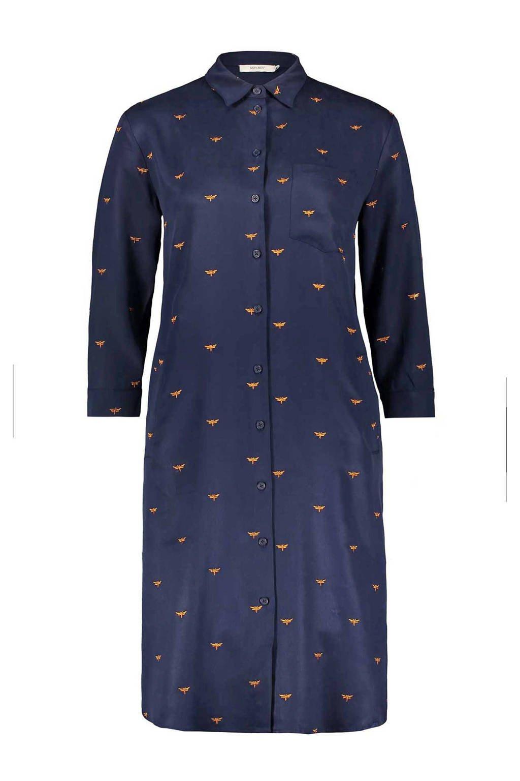3ac2886175141b Sissy-Boy blouse jurk met allover print blauw