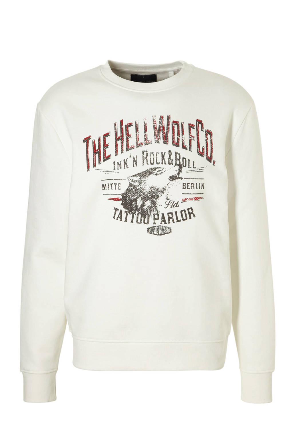 C&A Angelo Litrico sweater met printopdruk, Snowwhite