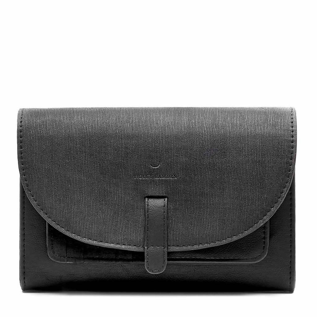 Violet Hamden  clutch Essential Bag VH23001 zwart, Zwart