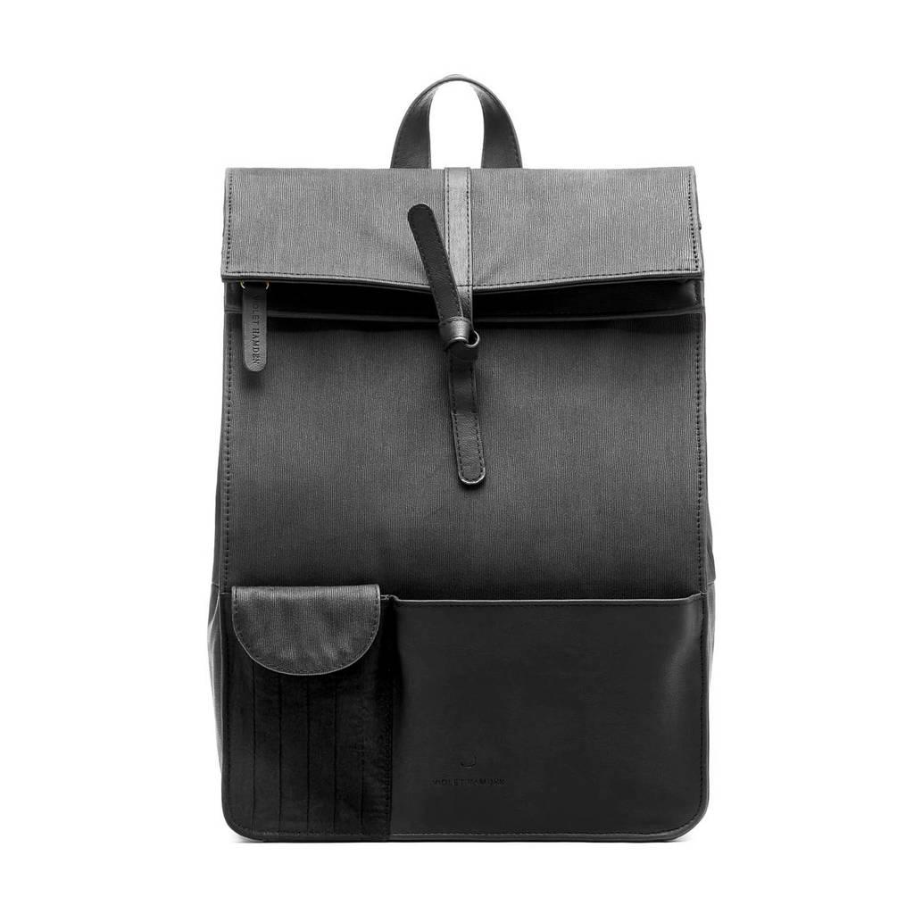 Violet Hamden  13.3 rugtas Essential Bag VH24001 zwart, Zwart