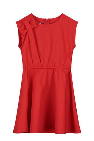 jurk Pomonas met strik rood