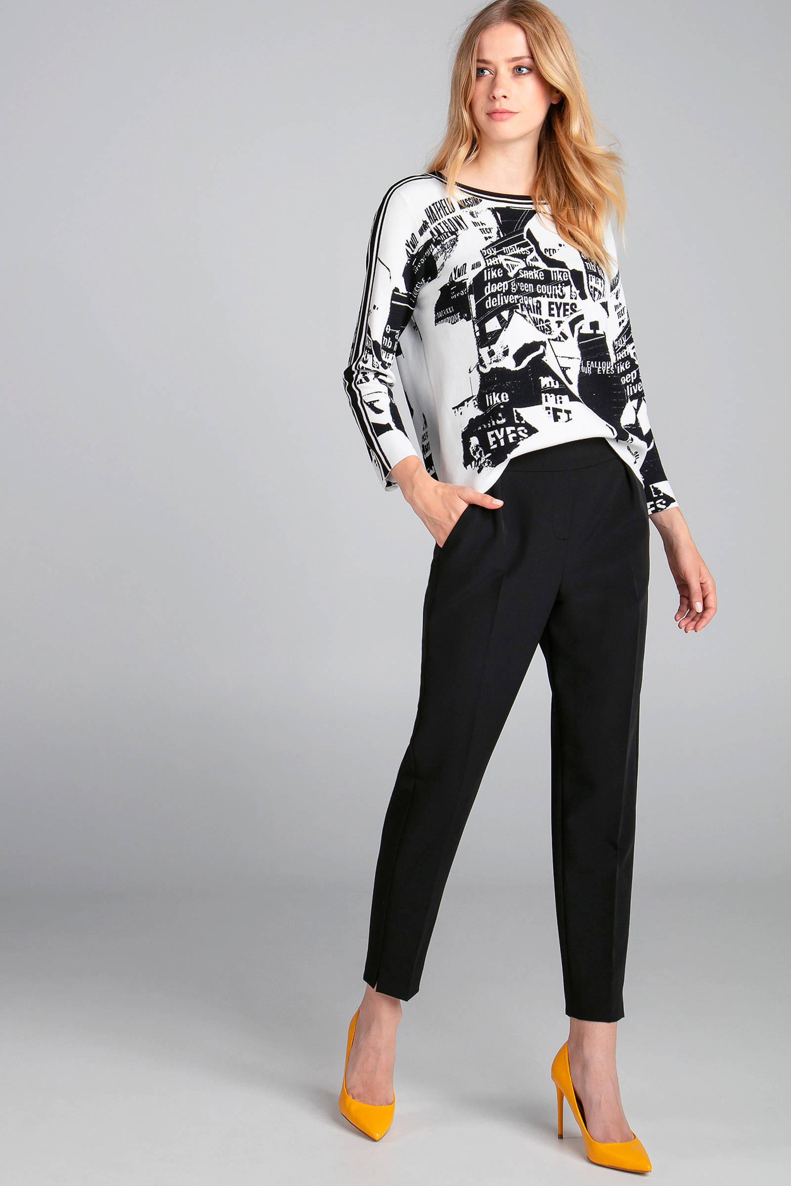 Claudia Sträter trui met allover print zwartwit | wehkamp