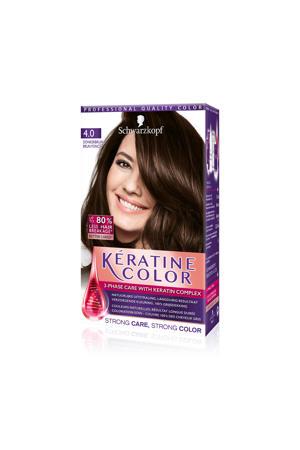 Keratine Color haarkleuring - 4.0 Donkerbruin