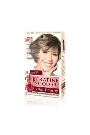 Keratine Color haarkleuring - 8.1 Asblond