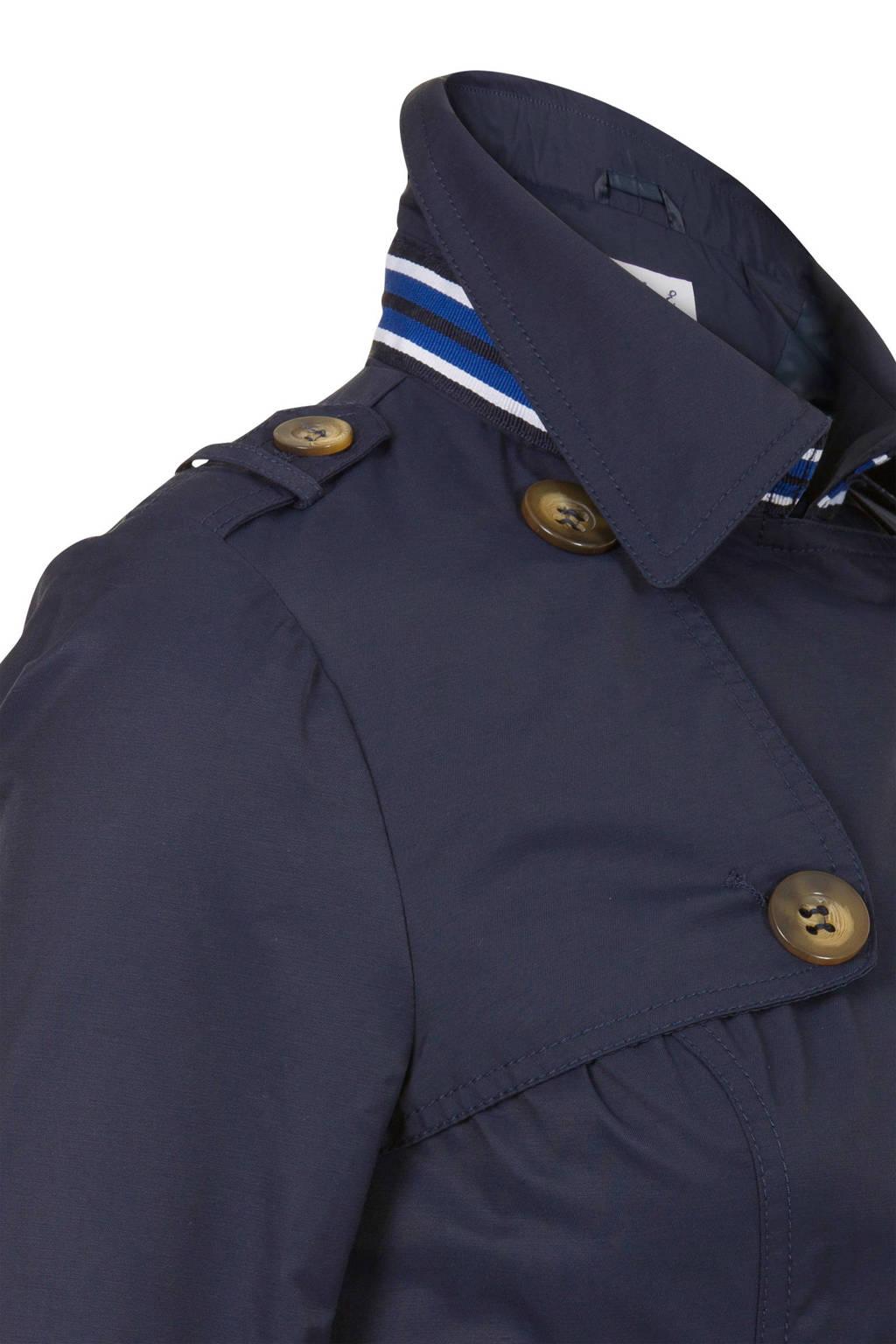 Miss Etam Regulier trenchcoat donkerblauw, Donkerblauw
