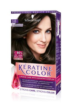 Keratine Color haarkleuring - 3.0 Intense Donkerbruin