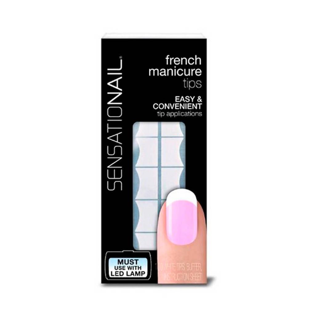 Sensationail white tips manicure, White Tips