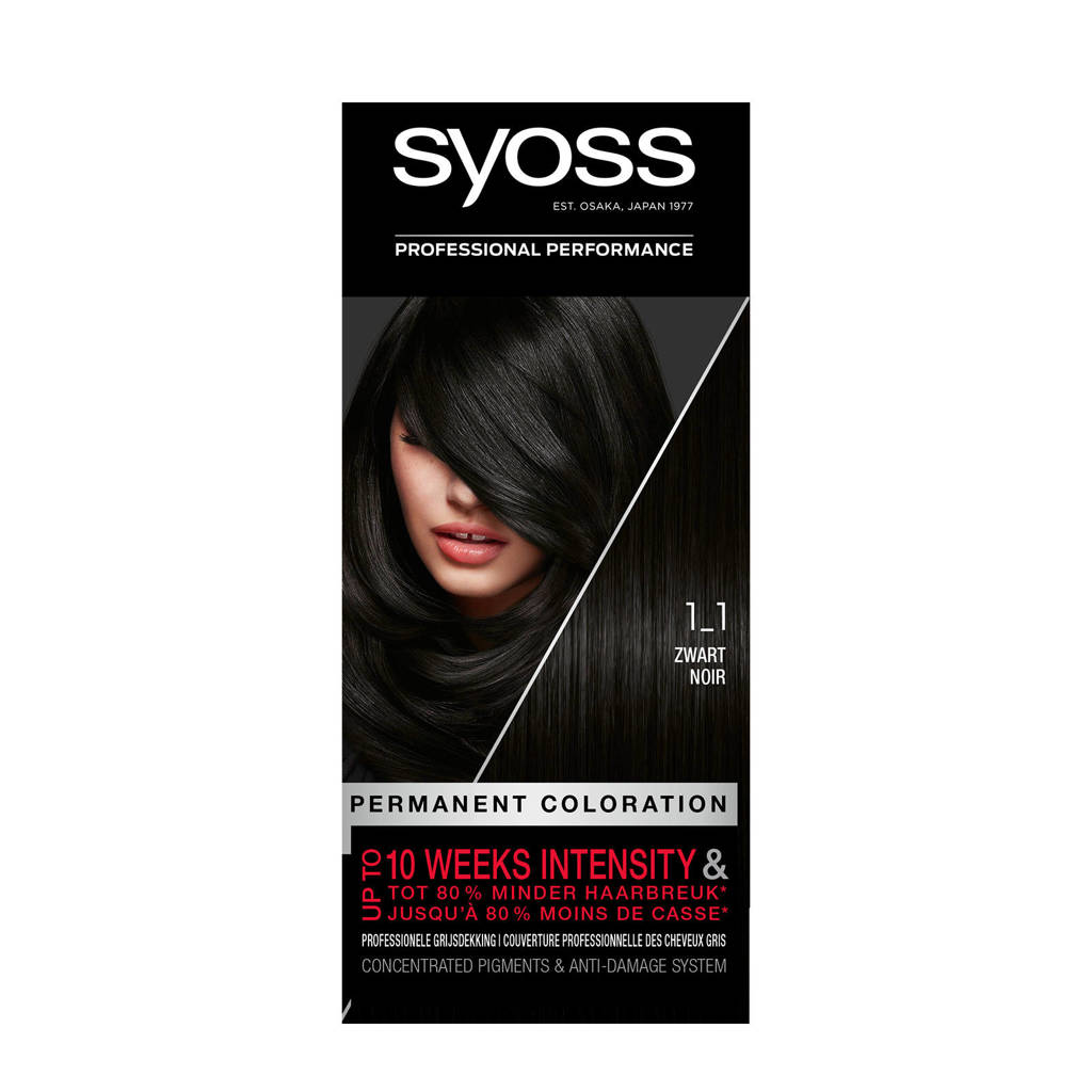 Syoss Color baseline 1-1 Zwart 1 stuks, 1-1 zwart