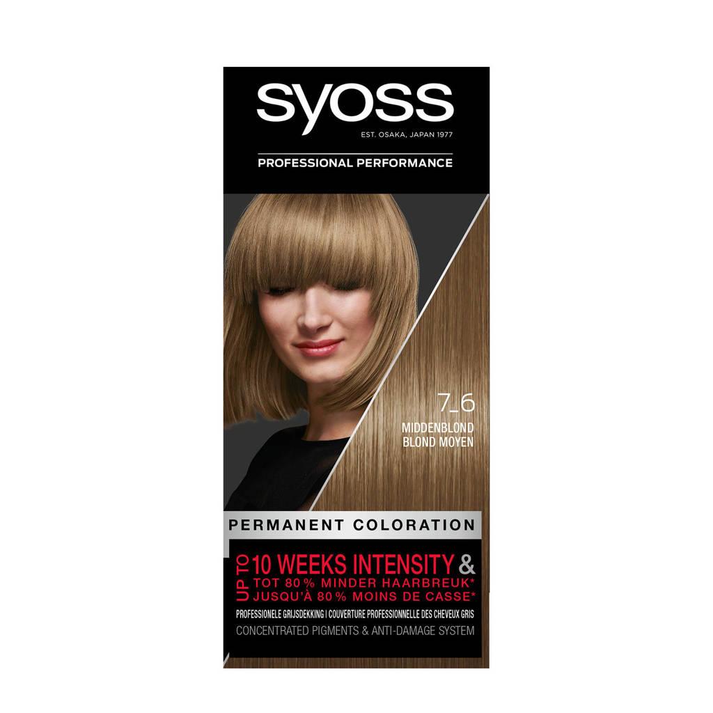 Syoss Color baseline 7-6 Middenblond 1 stuks, 7-6 middenblond