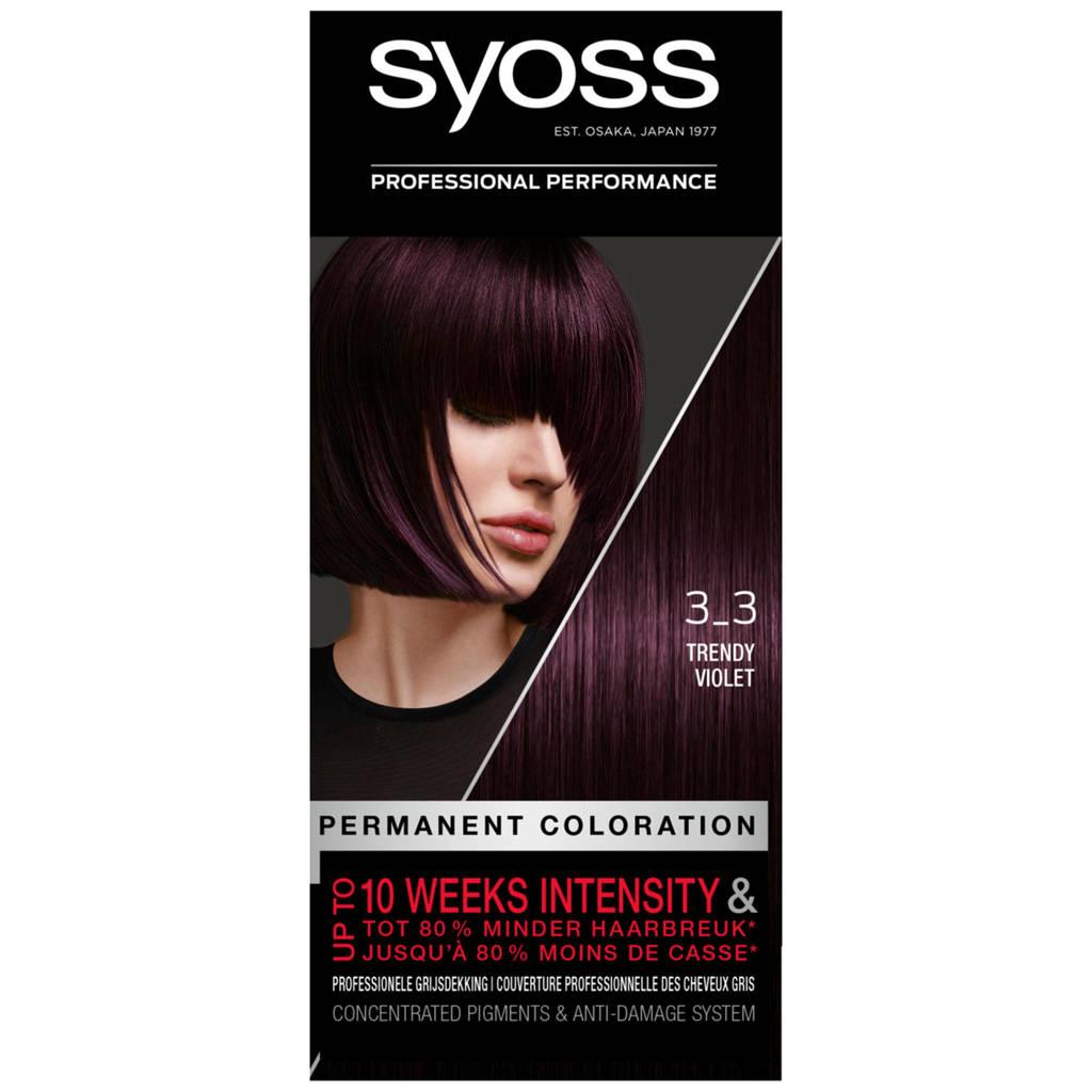 Syoss Color haarkleuring - 3-3 dark violet