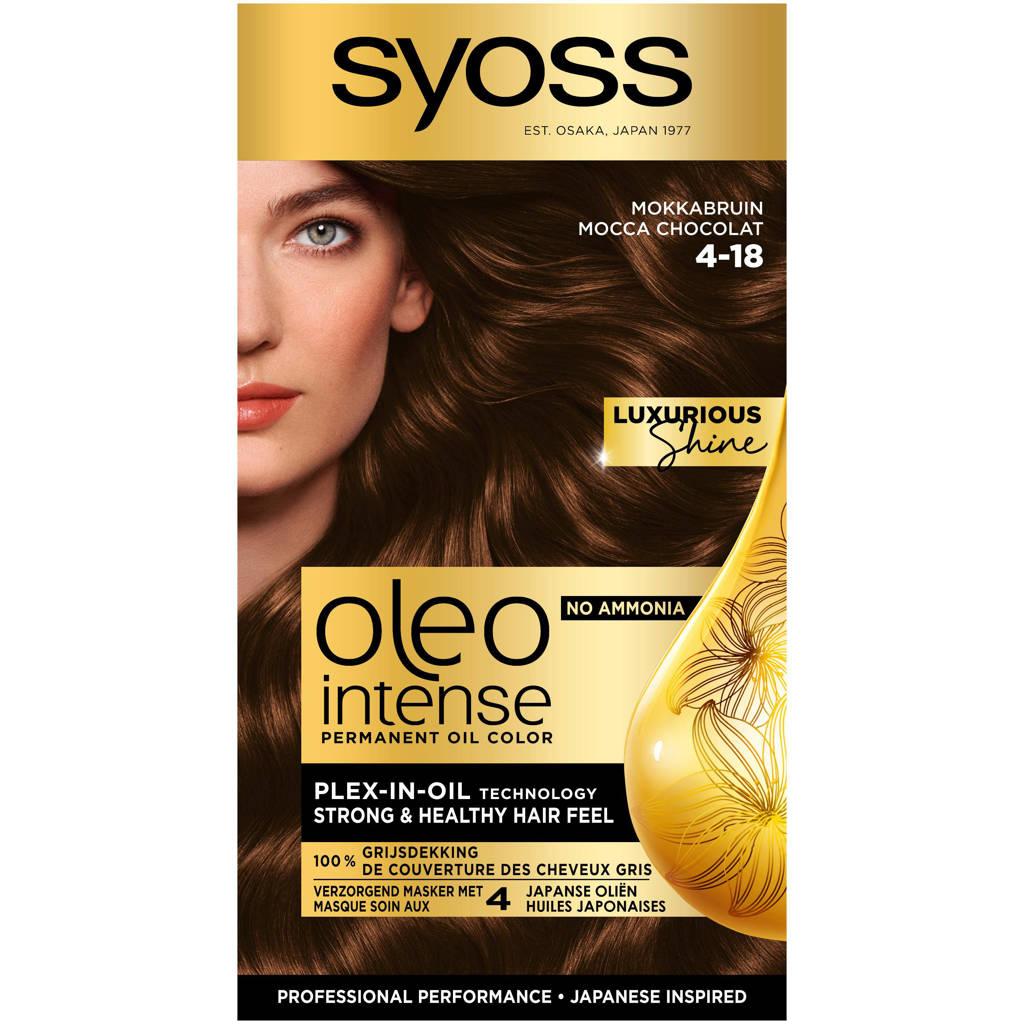 Syoss Color Oleo Intense 4-18 Mokkabruin 1 stuks, 4-18 mokkabruin