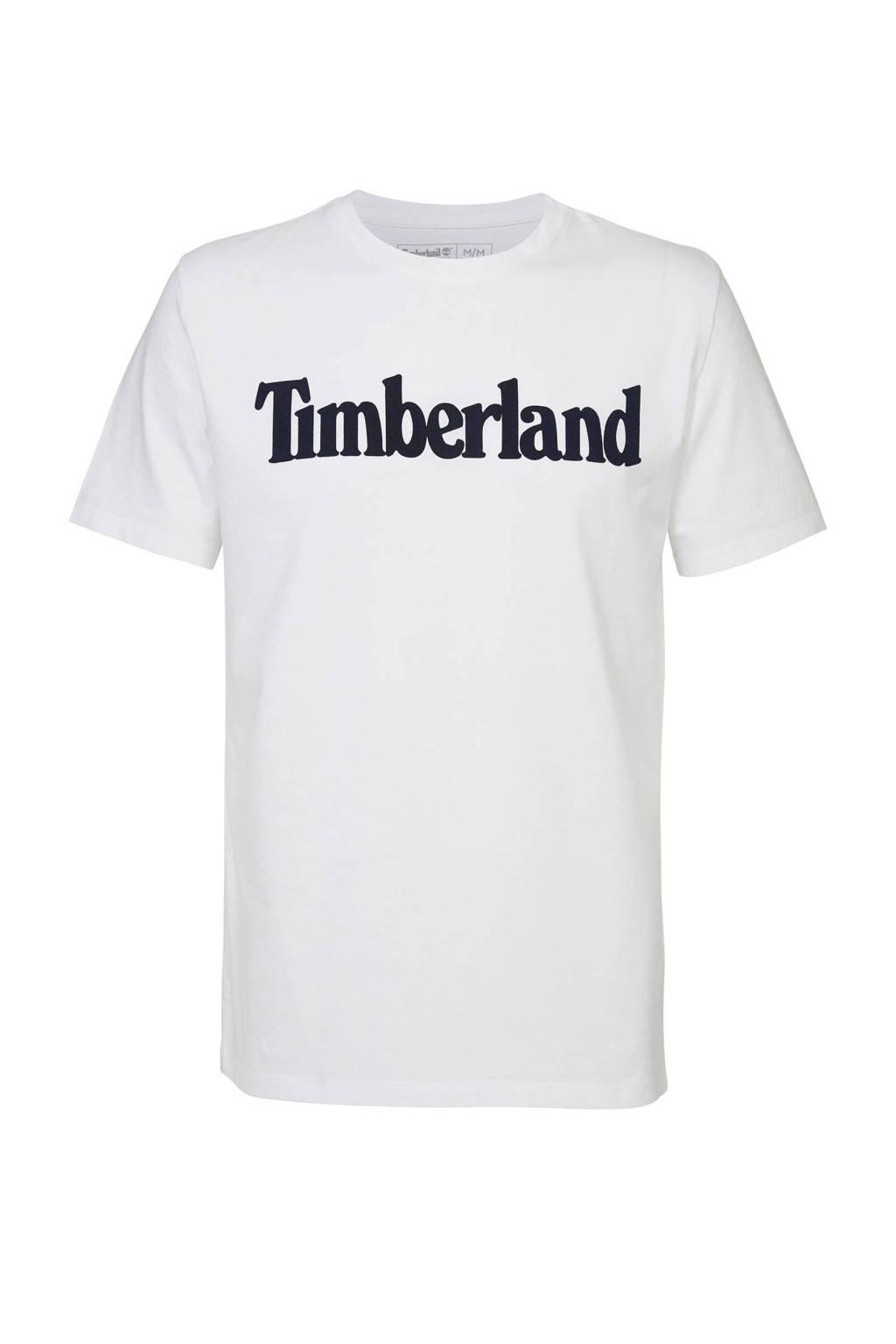 Timberland T-shirt met logo wit, Wit