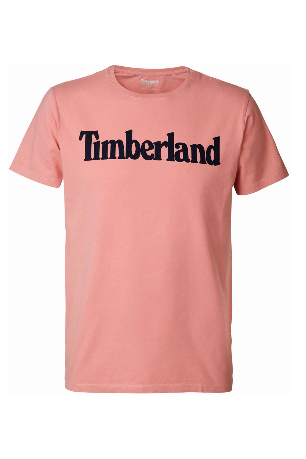 Timberland T-shirt met logo roze, Roze