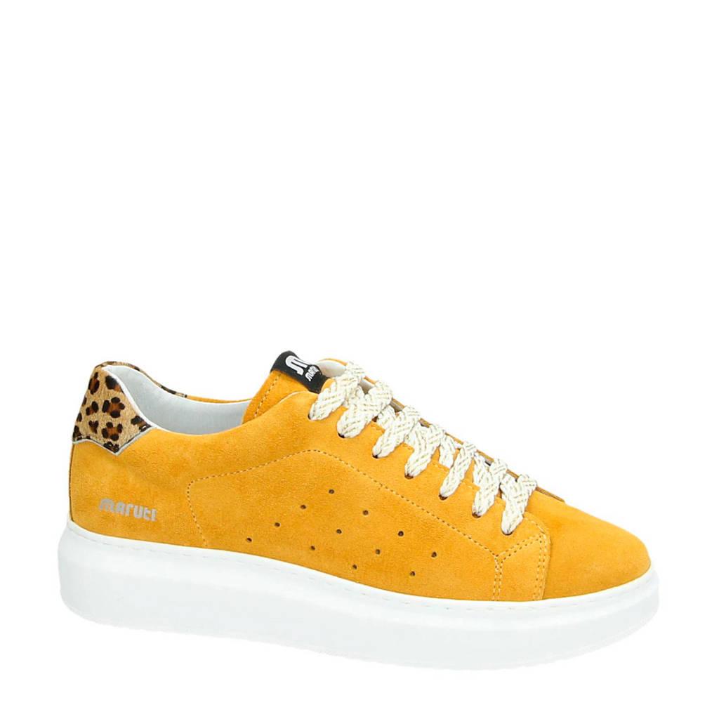 Maruti  Claire suède sneakers geel, Geel/wit