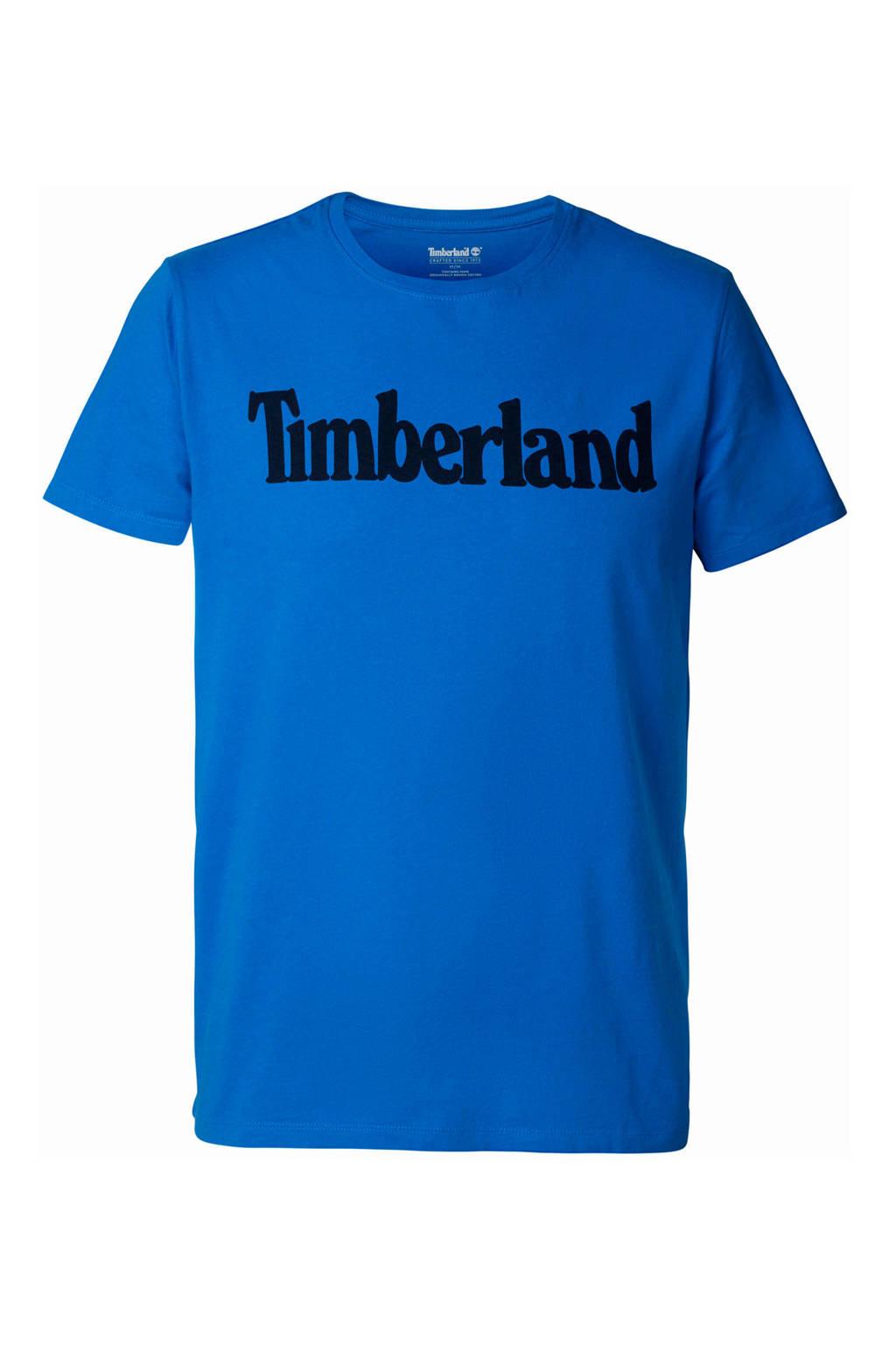 Timberland T-shirt met logo blauw, Blauw