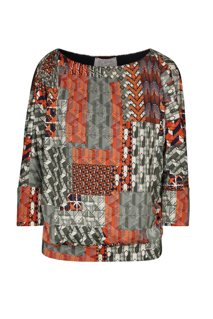 Cassis over blouse print met all nqO1agY