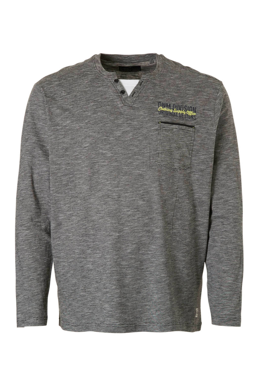 C&A XL Angelo Litrico gestreept T-shirt grijs, Grijs/wit