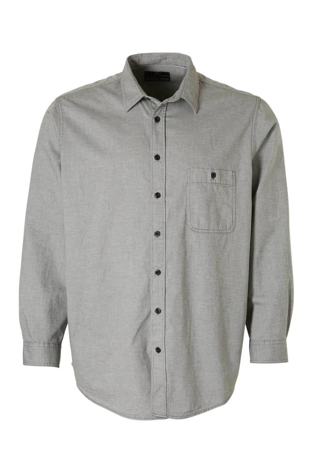 C&A Angelo Litrico regular fit overhemd met print grijs, Grijs